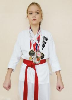 5 кю. Второй юношеский разряд по Всестилевому каратэ. Победитель и призёр городских и областных турниров по Сётокан каратэ SKIF и Всестилевому каратэ.